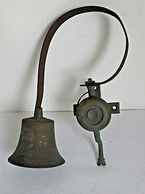 Antique Hanging Country Store Brass Door Bell