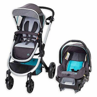 Baby Trend Espy Stroller with Car Seat Travel System Reversible Blue Gray New