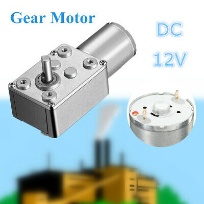 12V DC Motor High Torque Reduction Worm Reversible Turbo Geared- Strong