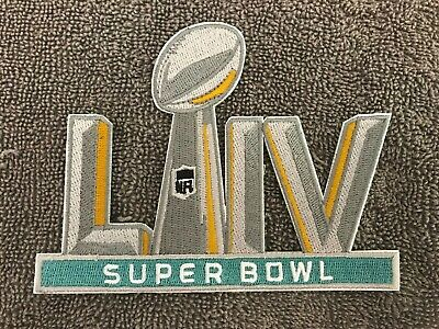 "SUPER BOWL 54 PATCH LIV 5"" Embroidered Patch Iron On Sew On 02/02/2020 KC Chiefs"