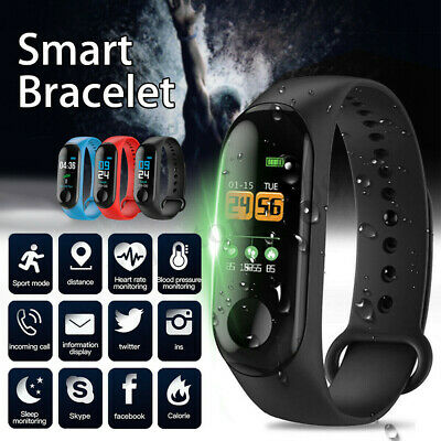 Smart Watch Heart Rate Blood Pressure Monitor Bracelet Wristband For Android iOS