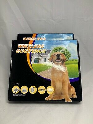 Open Box-2 In 1 Wireless C-100 Collar Dog Fence Containment System-Free Shipping
