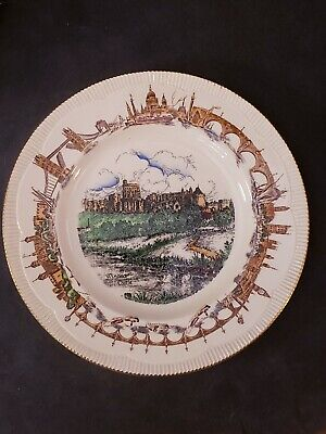 """Vintage Windsor Castle 10.5"""" Plate Clarice Cliff """"There'll Always Be An England"""""""