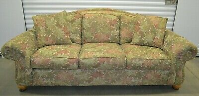 Ethan Allen Whitman Sofa Love Seat Two Upholstered Couches Set Floral #20-7783