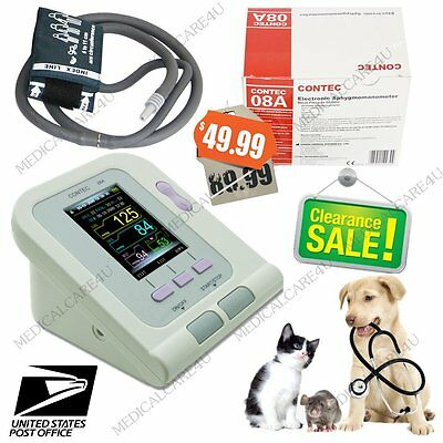 US Seller, Veterinary Digital Blood Pressure Monitor,Animal NIBP Monitor+CD, USB