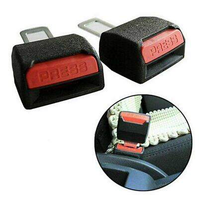2x Car Universal Safety Seat Belt Extension Buckle Extender Clip Alarm Stopper
