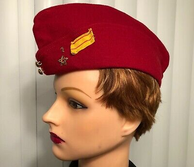 Vintage French Army (Spahis) Red Garrison Side Cap