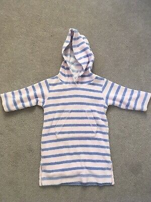 Mini Boden 6-12 Months Towelling Robe Pink Purple