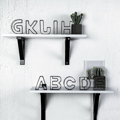 Props Wrought Iron Alphabet Metal Hollow Letter Home Decoration Doorplate Sign