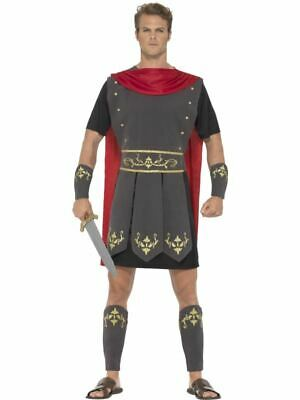 Adults Roman Warrior Costume Mens Centurion Gladiator Fancy Dress Outfit New
