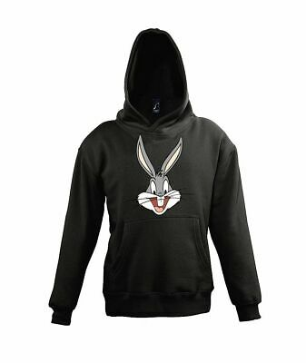 "Kinder Baby Hoodie ""BUGS"" Sweater Pullover Hase Kaninchen Bunny Möhre Fun Comic"