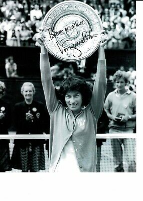 Virginia Wade Signed Wimbledon Champion Photo 10 X 8