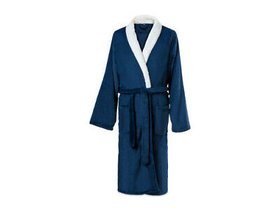 Mens Dormeo Warm  Blue Nightwear Gown.size Uk-Xl