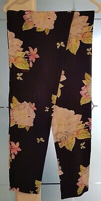 Ted Baker Girls Navy Floral Leggings Size 12-13
