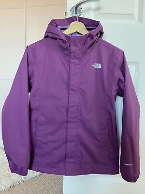 The North Face Girls Resolve Dryvent Reflective Purple Coat Jacket Large