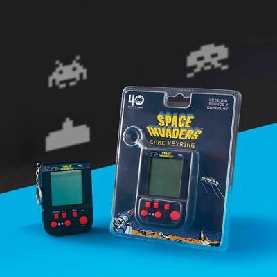 Space Invaders Mini Handheld Console Game Keyring Keychain - Retro Video Games