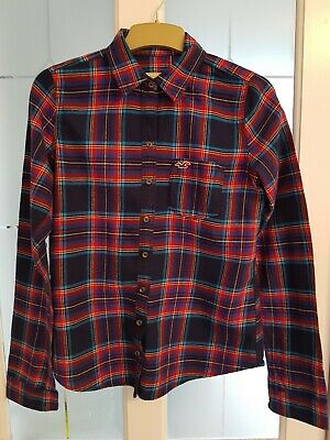 Hollister Girls Blue Check Shirt Size Medium 14