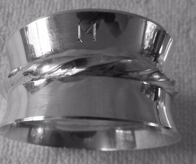 Towle Sterling Silver twisted rope napkin ring no 1 flared sides