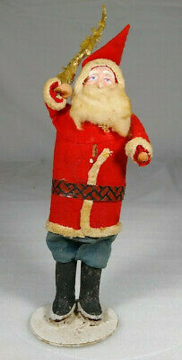 """Early 8"""" Belsnickle Santa Claus Figurine Antique Christmas Holiday Made In Japan"""