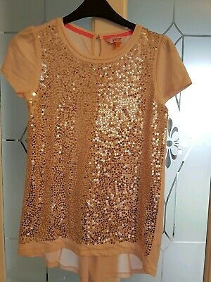 Ted Baker Girls Pink Sequin Top Age 12 -13