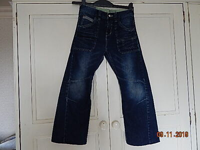 Next Boys Blue Denim Twisted Fit Jeans 10 Years Adjustable Waist