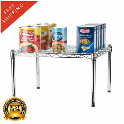 """24"""" x 24"""" x 14"""" Chrome Plated Metal Wire Dunnage Rack 600 Lb Capacity Silver"""