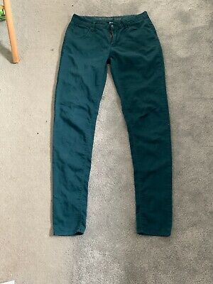 Ladies Primark Denim & Co. Green Skinny Jeans Size 10