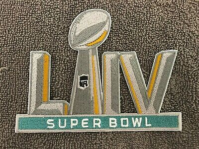 "Super Bowl 54 Patch LIV 5"" Embroidered Patch Iron On Sew On 2/2/20 High Quality"