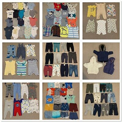 Huge Baby Boys Age 3/6 Months Clothes Bundle 100+ Items Ted Baker Zara Blue Zoo