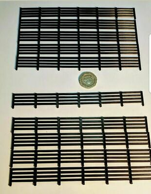 Scenery 1:76 OO gauge FENCING -10 PACK- UK Model Railway - Black  1.5 metres