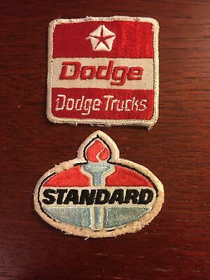 "VINTAGE PATCHES (2 Pieces) STANDARD OIL GAS STATION 3"" X 2.5"" SHIPS FROM USA!!!"