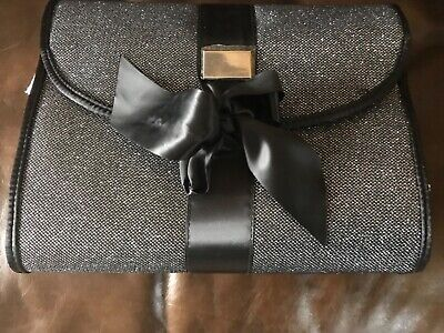 New GHD Limited Edition Black Glitter Carry Case Bag Heat Resistant Mat