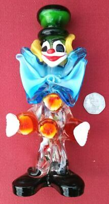 murano glass clown vintage collectable 21cm