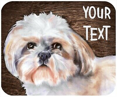 Mouse Pad Custom Personalized Thick Mousepad-Shih Tzu 1-Any Text Free