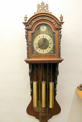 Old Wall Clock Regulator Clock Westminster Made in Germany*TEMPUS FUGIT*XXL120cm