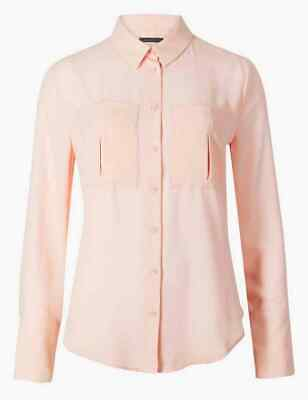 Marks and Spencer Pale Pink Long Sleeve Shirt Size 22
