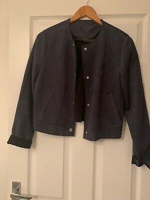 Navy blue faux suede jacket Size 12