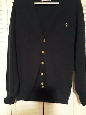 CHRISTIAN DIOR Navy Blue Cardigan Sweater Men Large  Excellent Condition!