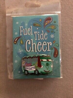 Disney Parks Fuel Tide Cheer 2019 Holiday Greeting Card Pin Filmore LE NEW