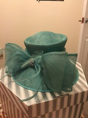 Turquoise Wedding/Races Hat, Mother of the Bride, Guest, Ladies Day