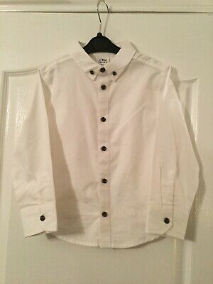 Bnwot Boys Long Sleeved White Linen Shirt By Urban Rascals Age 6 Years 116 Cms