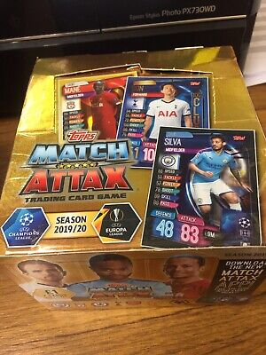 topps match attax champions league 2019/2020 Complete Box 50 PACKS FOOTBALL CARD