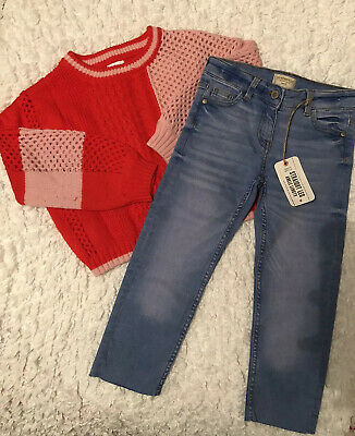 Girls Next Jeans BNWT And Jumper Bundle 7 Years