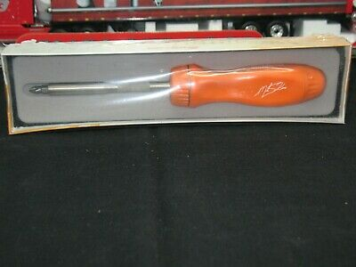 Snap On Usa Mike Skinner Collectors Ratcheting Screwdriver Ltd Edition Rare