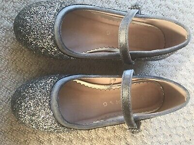 Girls silver party shoes size 13