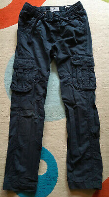 Boys Fatface Combat Style Navy Cotton Trousers. Age 9. Great Used Condition.