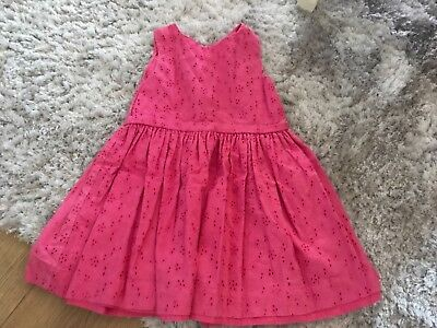 Girls Joules Dress Pink Size 4 Years