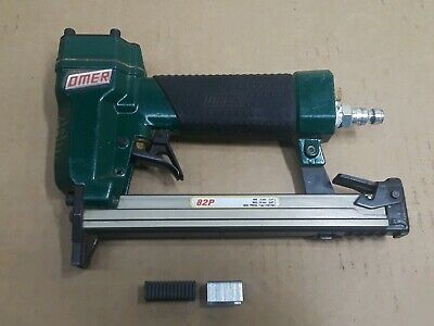 "Omer 82P Pneumatic Upholstery Staple Gun 1/4-5/8"" Metal or Plastic Staples Italy"