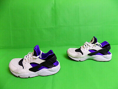 Nike Huarache White/Purple Trainers size 8 UK