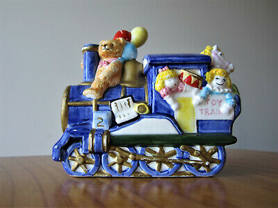Infants age 2 toy train figurine - ceramic baby gift